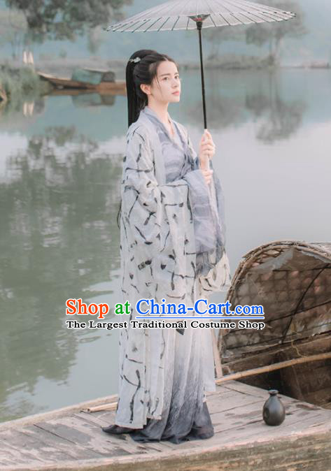 Chinese Ancient Jin Dynasty Swordsman Nobility Childe Embroidered Costumes for Women for Men