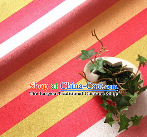 Asian Traditional Drapery Korean Colorful Streak Hanbok Brocade Fabric Silk Fabric Material