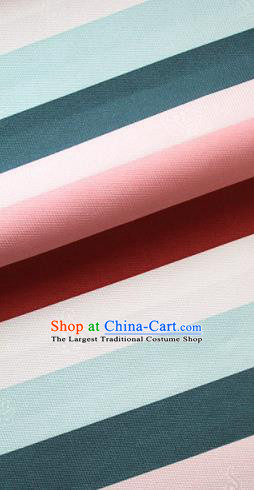 Asian Traditional Drapery Korean Colorful Hanbok Brocade Fabric Silk Fabric Material