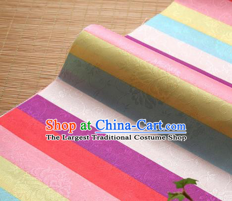 Asian Traditional Drapery Korean Fashion Hanbok Brocade Fabric Silk Fabric Material