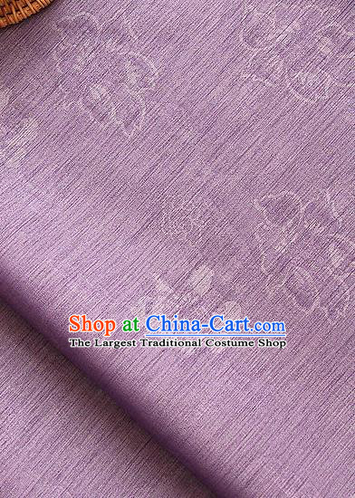 Asian Korean Traditional Purple Tough Silk Fabric Classical Peony Pattern Fabric Hanbok Silk Material