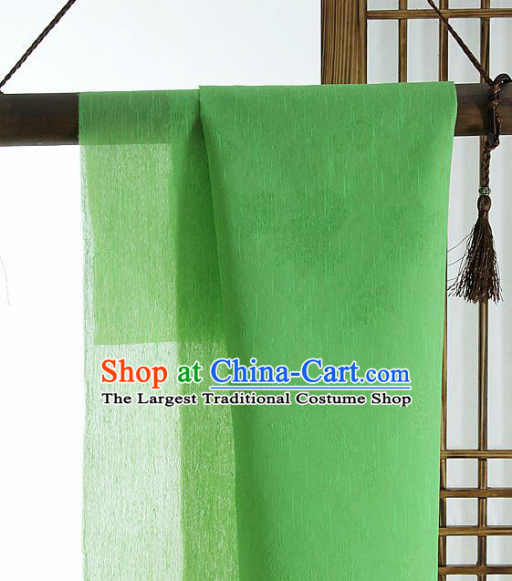 Asian Korean Traditional Green Tough Silk Fabric Hanbok Silk Material