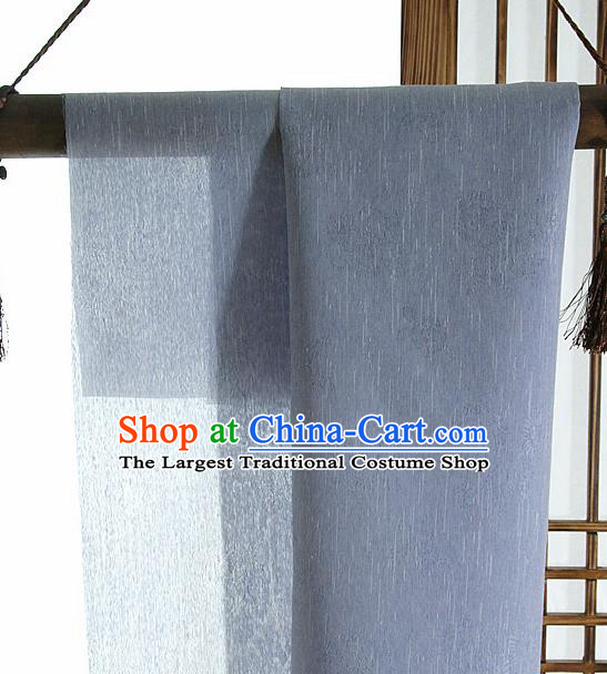 Asian Korean Traditional Ice Blue Tough Silk Fabric Hanbok Silk Material