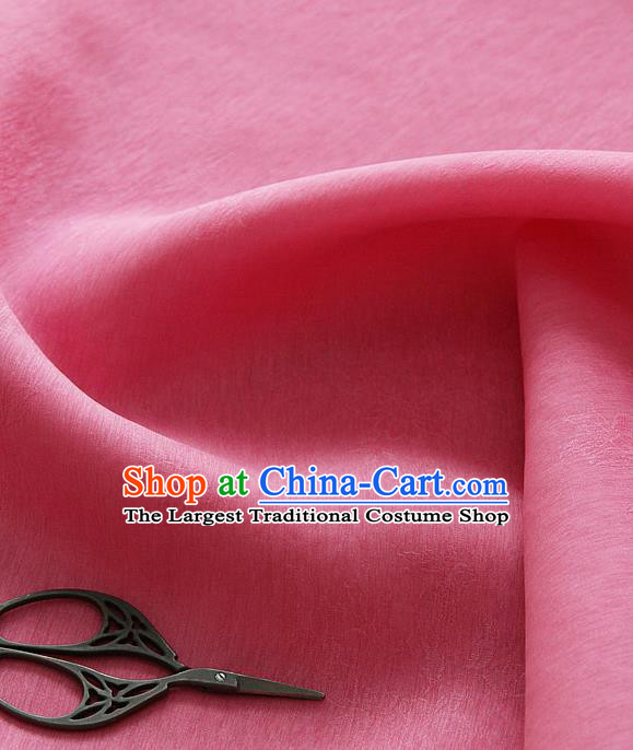 Asian Korean Traditional Pink Tajung Fabric Classical Pattern Thin Tough Silk Fabric Hanbok Silk Material