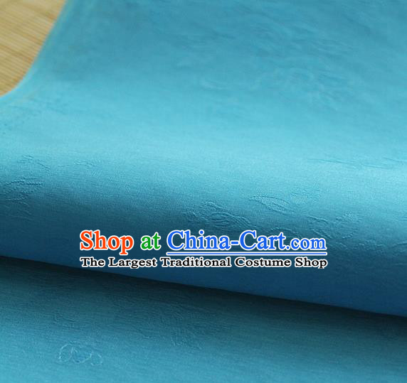 Asian Korean Traditional Light Blue Tajung Fabric Classical Pattern Thin Tough Silk Fabric Hanbok Silk Material