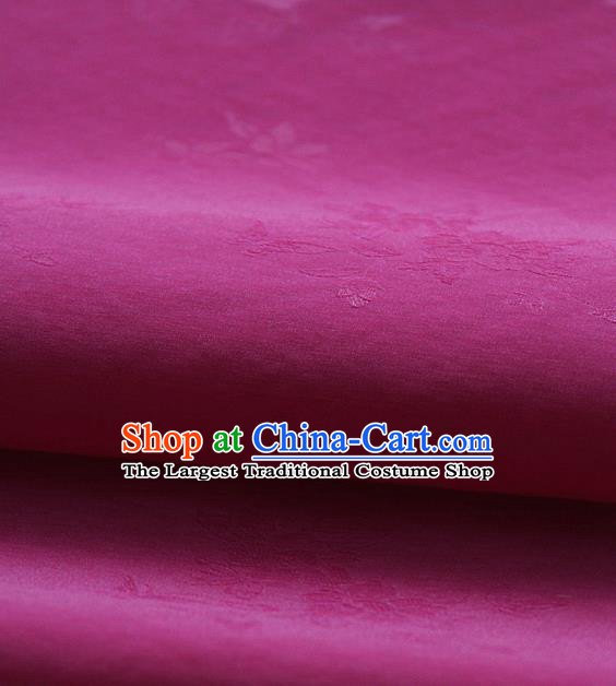 Asian Korean Traditional Amaranth Tajung Fabric Classical Pattern Thin Tough Silk Fabric Hanbok Silk Material