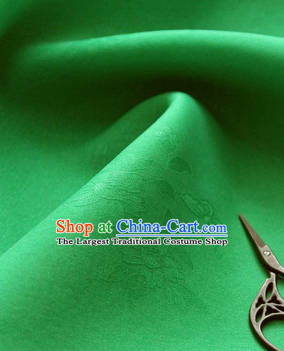 Asian Korean Traditional Green Tajung Fabric Classical Pattern Thin Tough Silk Fabric Hanbok Silk Material