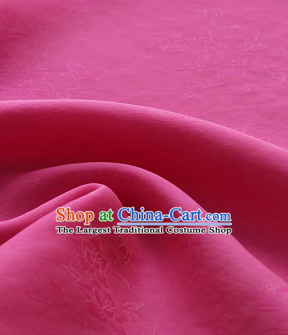 Asian Korean Traditional Rosy Tajung Fabric Classical Pattern Thin Tough Silk Fabric Hanbok Silk Material