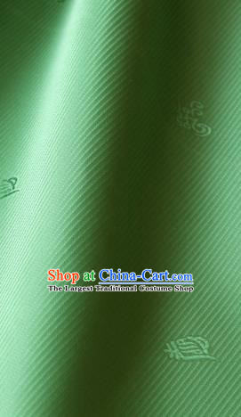 Asian Korean Traditional Palace Drapery Royal Pattern Green Brocade Satin Fabric Silk Fabric Material