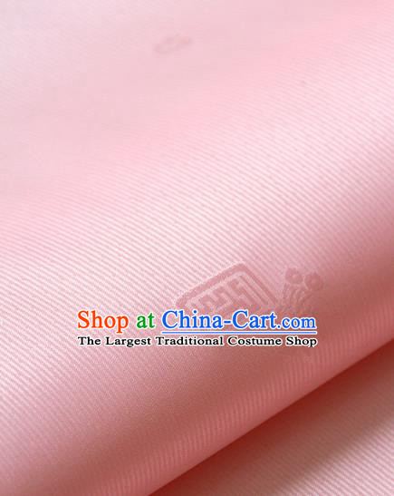 Asian Korean Ancient Costume Drapery Traditional Palace Pattern Pink Brocade Satin Fabric Silk Fabric Material