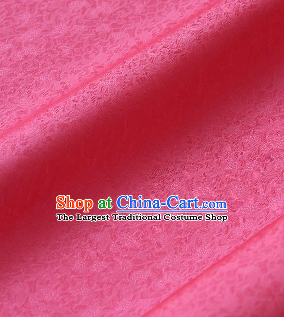 Traditional Asian Rosy Brocade Classical Pattern Drapery Korean Hanbok Palace Satin Silk Fabric
