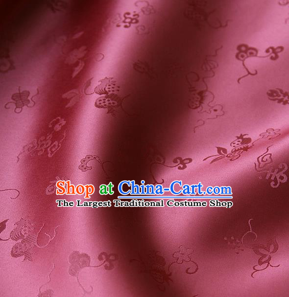 Traditional Asian Brocade Classical Cucurbit Pattern Drapery Korean Hanbok Palace Satin Silk Fabric