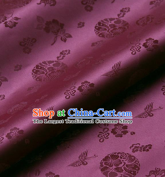 Traditional Asian Cloth Drapery Amaranth Brocade Korean Hanbok Palace Satin Silk Fabric