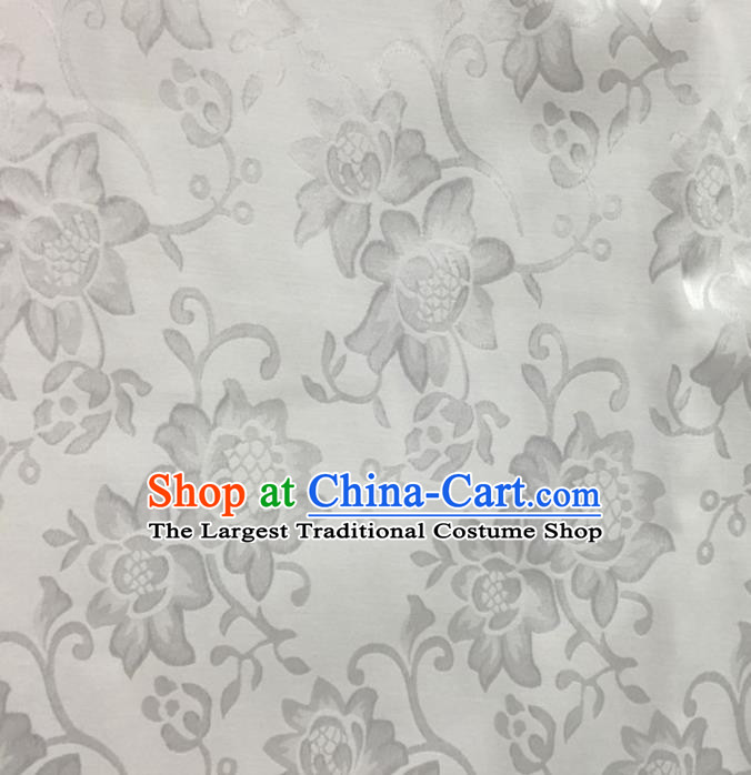 Chinese Traditional Apparel Fabric Qipao Brocade Classical Sunflowers Pattern Design Silk Material Satin Drapery
