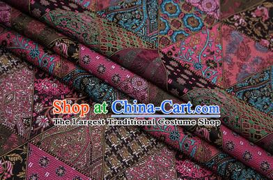 Chinese Traditional Apparel Fabric Tibetan Robe Brocade Classical Pattern Design Material Satin Drapery