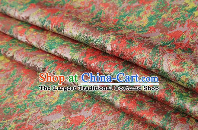 Chinese Traditional Pink Brocade Satin Fabric Tang Suit Material Classical Pattern Design Drapery