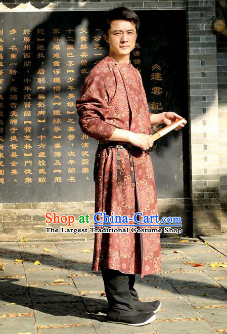 Chinese Ancient Tang Dynasty Round Collar Robe Swordsman Imperial Bodyguard Costumes for Men