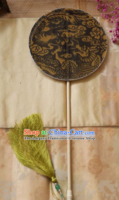 Chinese Ancient Palace Fans Hanfu Silk Round Fans for Women