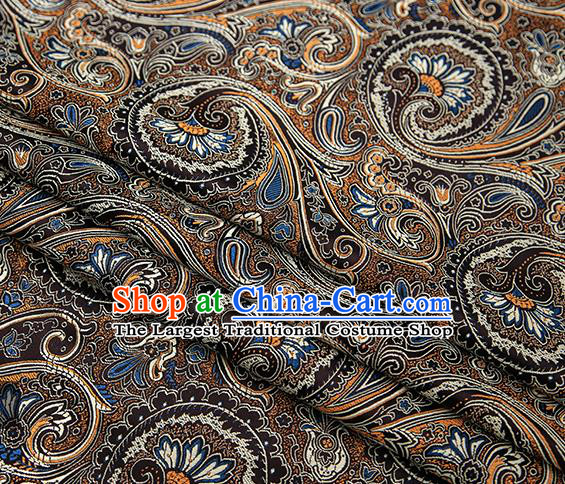Chinese Traditional Tang Suit Black Brocade Fabric Classical Pattern Design Material Satin Drapery