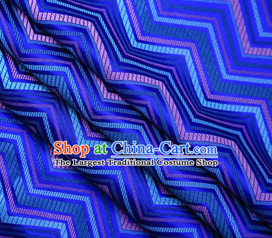 Royalblue Satin Traditional Chinese Tang Suit Brocade Fabric Classical Pattern Design Material Drapery