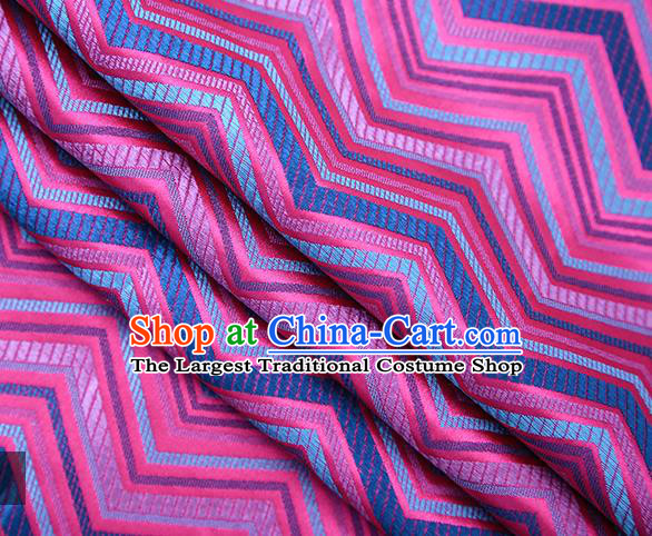 Rosy Satin Traditional Chinese Tang Suit Brocade Fabric Classical Pattern Design Material Drapery