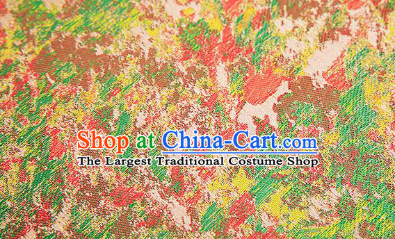 Chinese Traditional Satin Classical Pattern Design Brocade Fabric Qipao Dress Material Drapery
