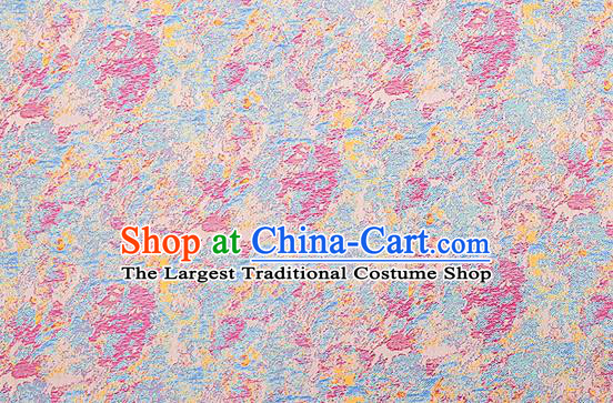 Chinese Traditional Satin Classical Pattern Design Pink Brocade Fabric Qipao Dress Material Drapery