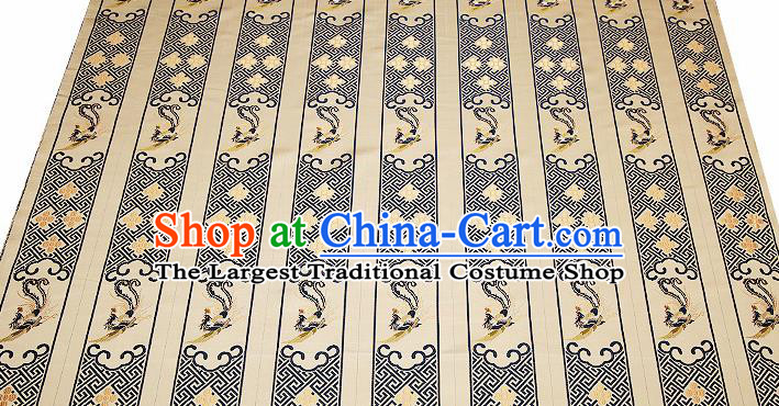 Chinese Traditional Classical Embroidered Navy Phoenix Pattern Design Brocade Fabric Cushion Material Drapery