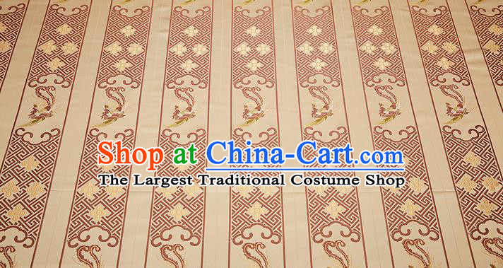 Chinese Traditional Classical Embroidered Brown Phoenix Pattern Design Brocade Fabric Cushion Material Drapery