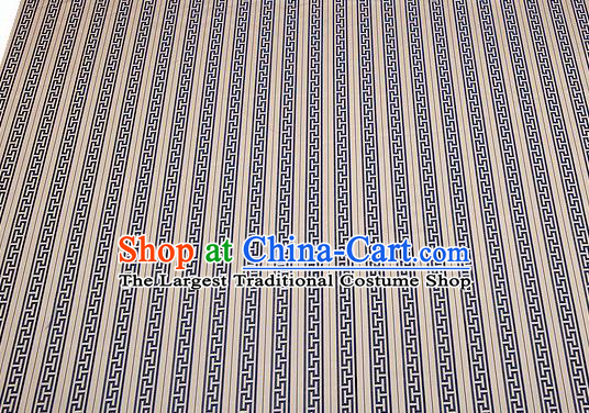Chinese Traditional Garment Fabric Classical Navy Pattern Design Brocade Cushion Material Drapery