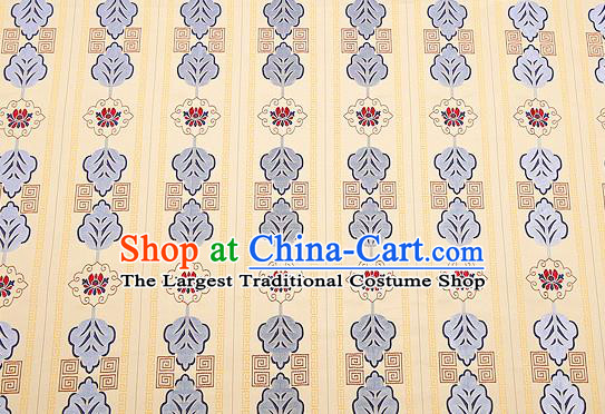 Top Grade Lotus Pattern Brocade Chinese Traditional Garment Fabric Cushion Satin Material Drapery
