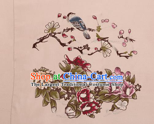Top Grade Classical Peony Pattern Silk Brocade Chinese Traditional Garment Fabric Cushion Satin Material Drapery