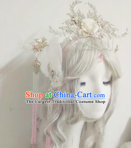 Chinese Handmade Ancient Swordswoman Hair Accessories Princess Phoenix Coronet Hairpins Headwear for Women