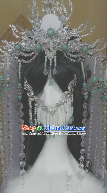 Chinese Handmade Ancient Princess Hair Accessories Phoenix Coronet Hairpins Headwear for Women