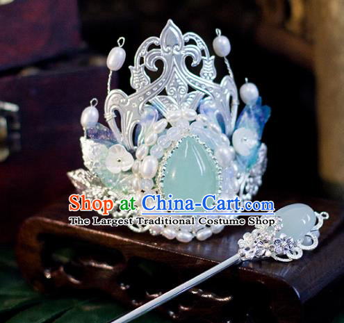 Top Grade Chinese Handmade Hairpins Princess Hair Crown Ancient Hanfu Hair Accessories for Women