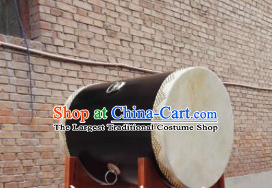 Chinese Traditional Handmade Drums Folk Dance Black Wood Drum Cowhide Drums
