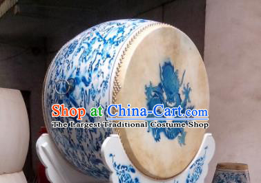 Chinese Traditional Handmade Drums Folk Dance Lion Dance Drum Printing Dragon Cowhide Drums