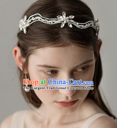 Top Grade Handmade Bride Crystal Royal Crown Hair Accessories for Women