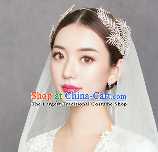 Top Grade Handmade Bride Crystal Hair Clasp Royal Crown Hair Accessories for Women