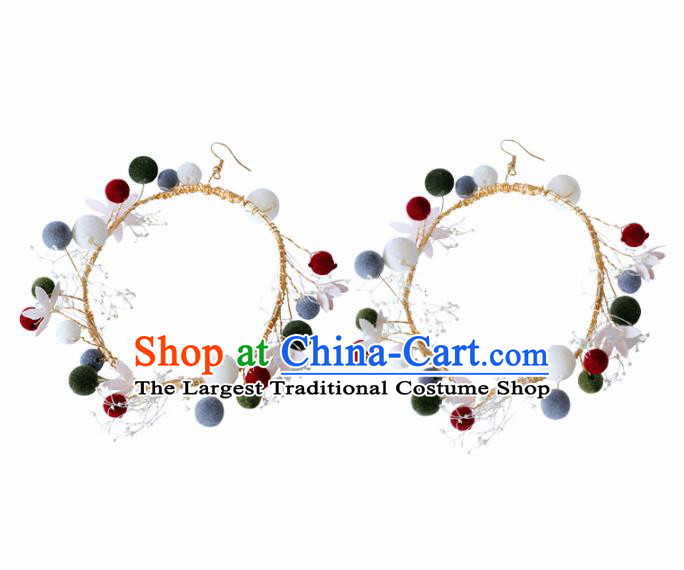 Top Grade Handmade Baroque Colorful Earrings Bride Jewelry Accessories for Women