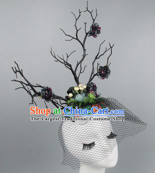 Chinese Traditional Handmade Hair Accessories Halloween Cosplay Headwear for Women