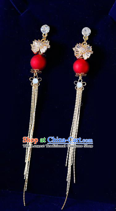 Top Grade Handmade Baroque Tassel Earrings Bride Jewelry Accessories for Women