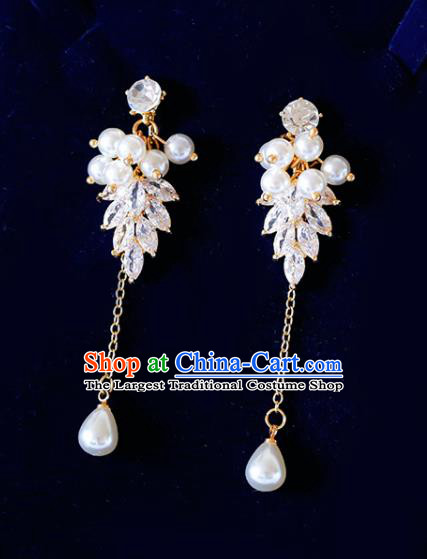 Top Grade Handmade Baroque Pearls Earrings Bride Jewelry Accessories for Women