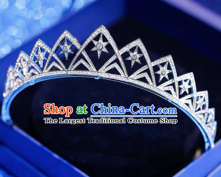 Top Grade Handmade Bride Zircon Royal Crown Princess Baroque Hair Accessories for Women
