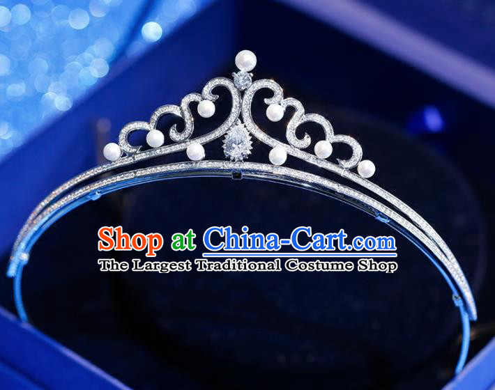 Top Grade Handmade Zircon Royal Crown Baroque Princess Hair Accessories for Women