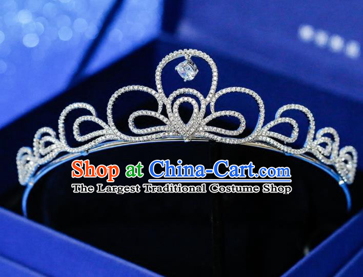 Top Grade Handmade Royal Crown Baroque Princess Zircon Hair Accessories for Women