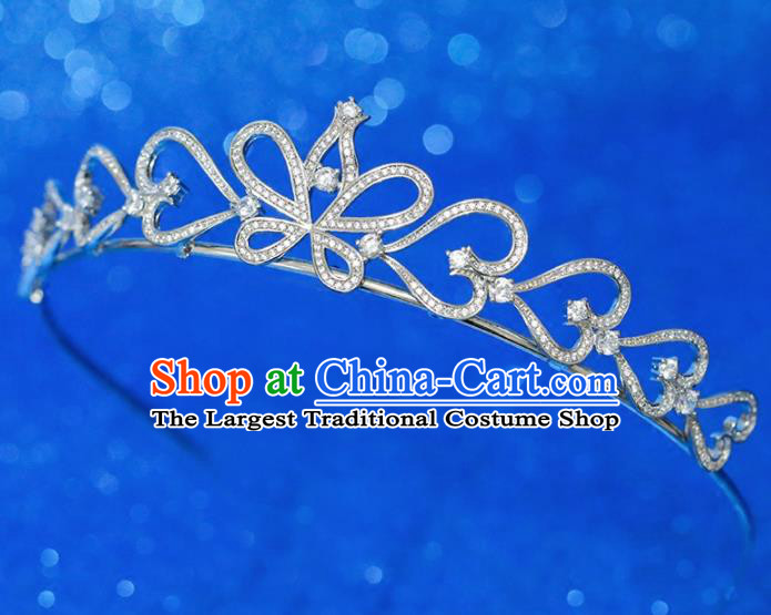 Top Grade Handmade Butterfly Royal Crown Baroque Princess Zircon Hair Accessories for Women