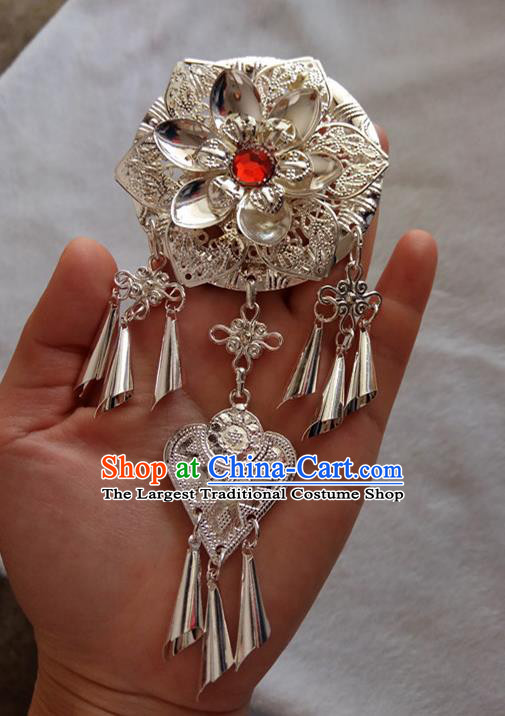 Chinese Ethnic Dai Nationality Folk Dance Hair Accessories Traditional Flowers Hairpins for Women