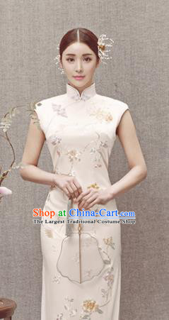 Asian Chinese National Costume Traditional Cheongsam Qipao Dress for Women