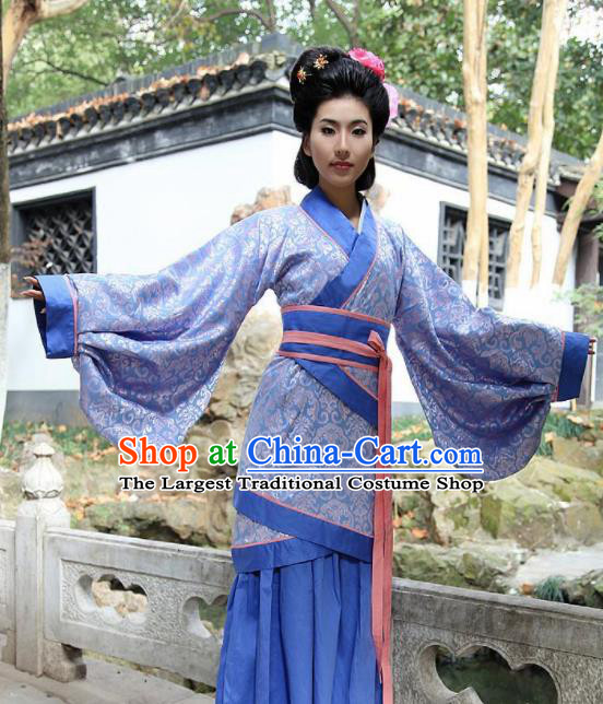 Chinese Ancient Dowager Costumes Traditional Han Dynasty Countess Hanfu Clothing for Women